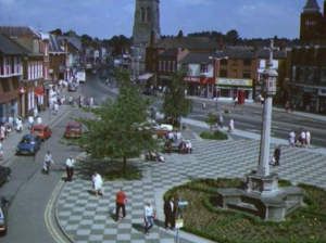 Harborough's square has changed a lot in appearance over the years.